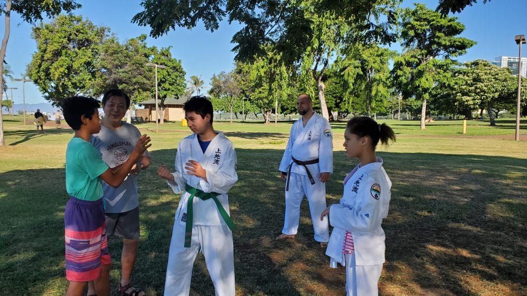 IUKF President, Darin Yee, teaching students